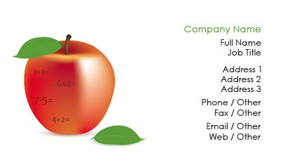 An Apple a Day Business Card Template
